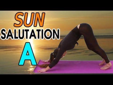 sun salutation a or surya namaskara  yoga for beginners