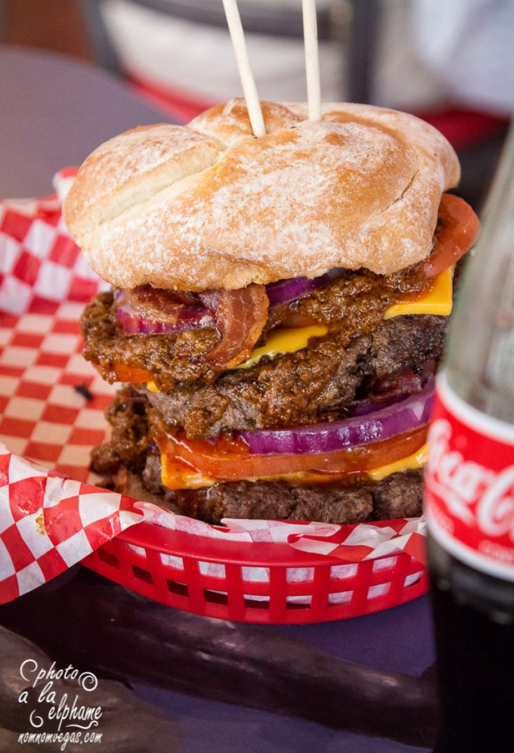 Superior Burger And Coke At Heart Attack Grill, A Restaurant And Tourist Bit In  Downtown Las