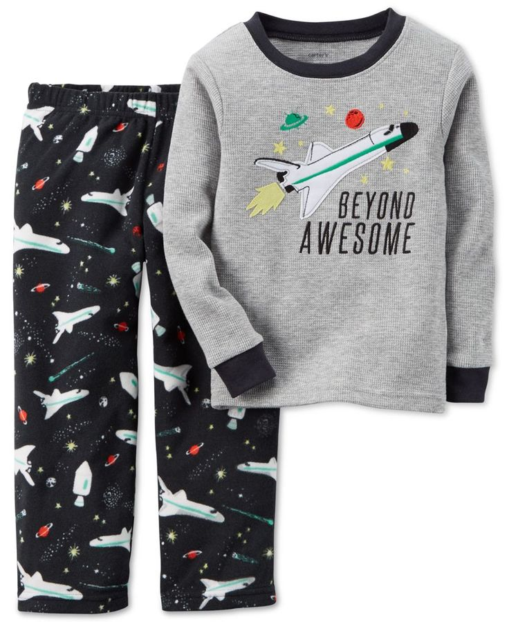 Carter's Baby Boys' 2-Piece Spaceship Pajama Set