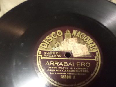 1927Argentine-DISCO-NACIONALOdeon-78-CARLOS-GARDEL-w-4-Guitarras