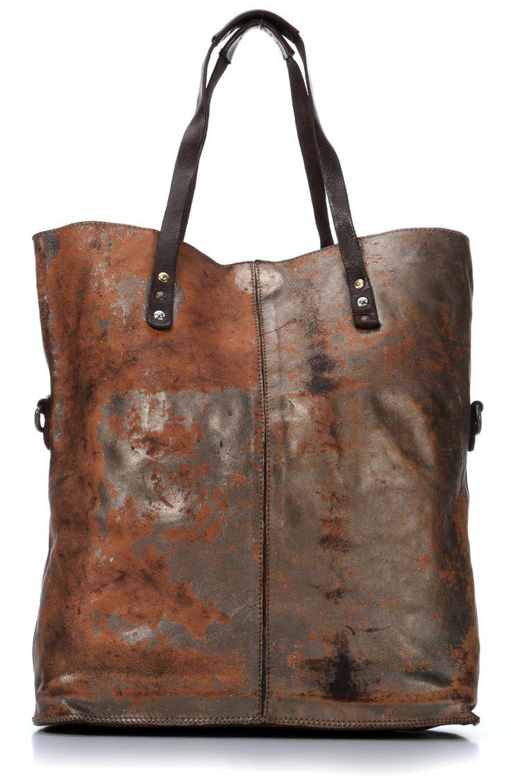 Campomaggi Lavata Tote Leather silver 39 cm - C1436LAVL-2025 - Designer Bags Shop - wardow.com