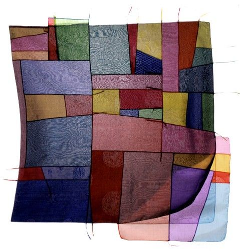 "Chunghie Lee ""3-layered No-Name Women Bojagi"" silk patchwork, 2001"