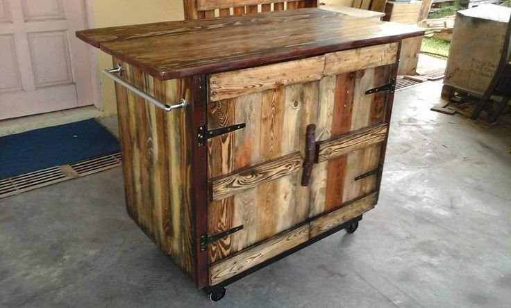 how to make a kitchen island out of wood pallets 2