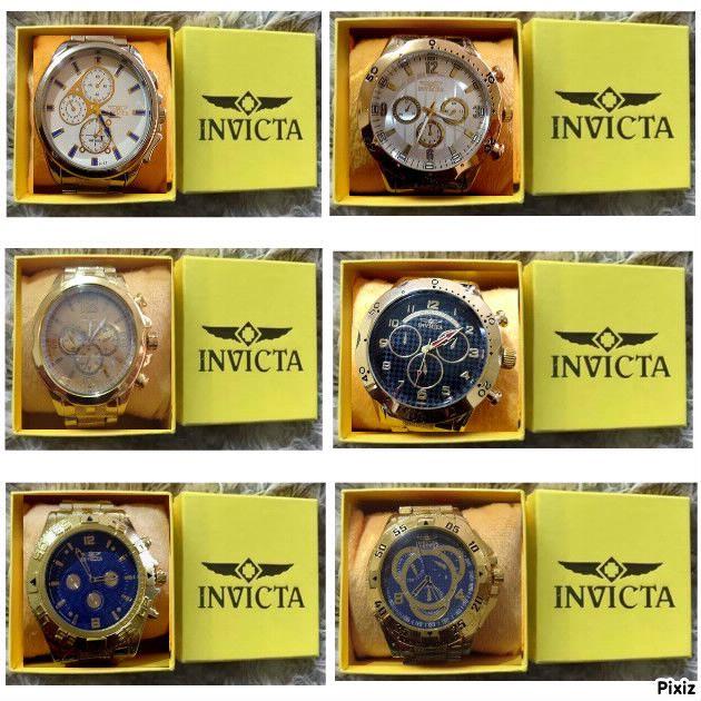 Replicas de relógios Invicta primeira linha masculinos importados de marcas  famosas yakuza, subaqua, pro 627c8cf467