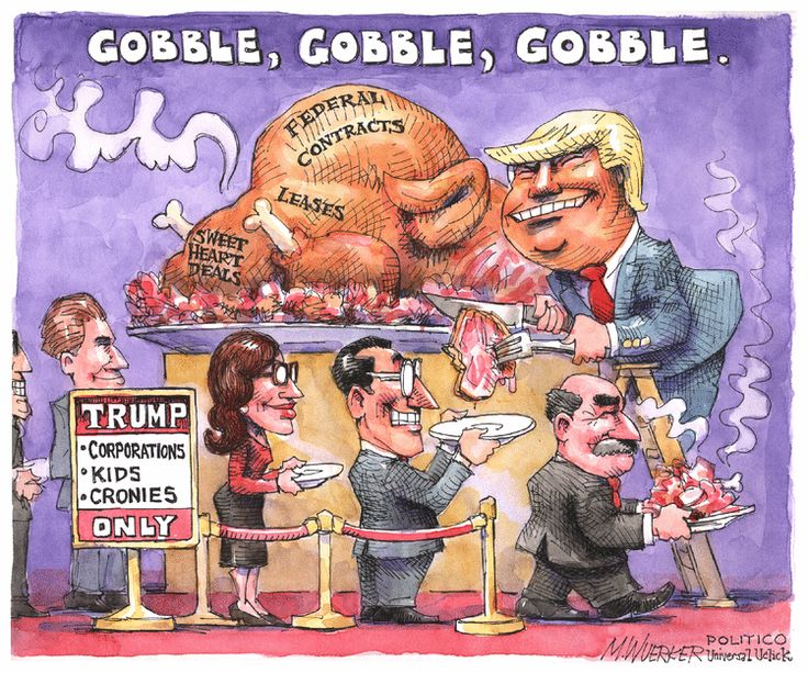 Editorial Cartoon by Matt Wuerker from November 22, 2016 ? The leftovers are the best part.