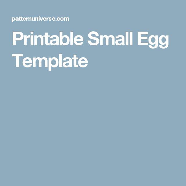 Printable Small Egg Template