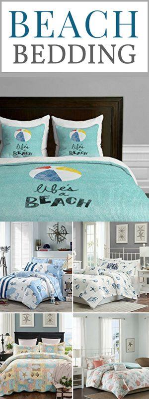 Best Beach Bedding Sets!  Check out the absolute best coastal, nautical, and beach comforter sets that will complete the bedrooms in your beach home.