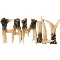 "because nothing says ""family"" quite like killing a deer and using it's antlers for red neck art."