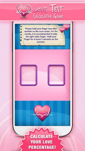 """Hello, all lovers of the world! Download ♥ Love Test Calculator Game ♥ and see if you're a perfect match or just a fling! P.S. This is for entertainment purposes only! The scanner in this app is not real!<p>We offer you the best:<br>♥ Love calculator - calculates love percentage, based on numerology!<br>♥ Love test – lets you answer questions about each other, and check your compatibility!<br>♥ Love words – gives you cute """"love quotes and sayings"""" that will brighten your day!<p>♥ Love Test…"""
