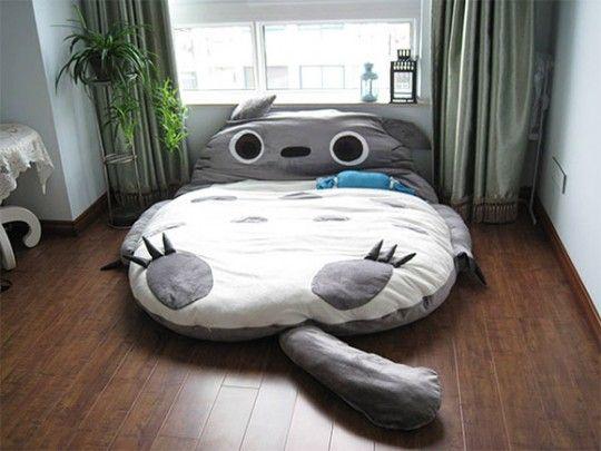 Letto per bambini ispirato al personaggio Totoro di Miyazaki - Ideare casa