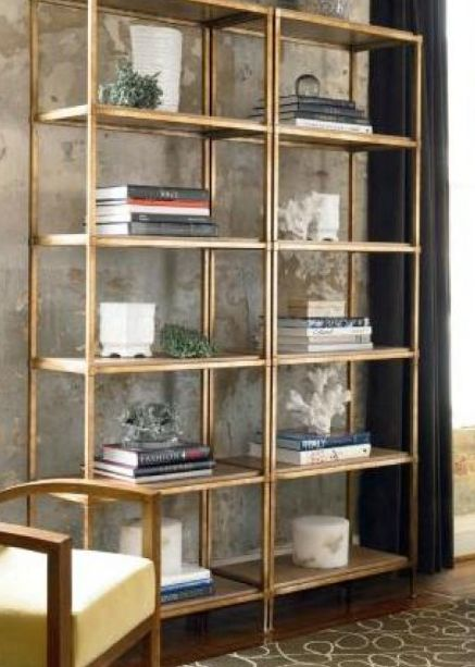 Living Room Shelving Unit Wall Covering Ideas Ikea VittsjÖ Painted Gold | For The Home ...