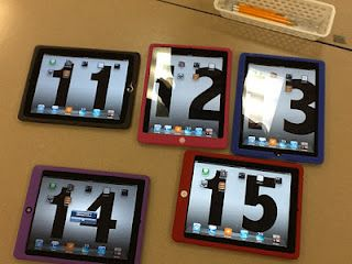 Excellent Teacher Blog on using technology in the classroom, love that the background of the i pads is the number of the i pad.