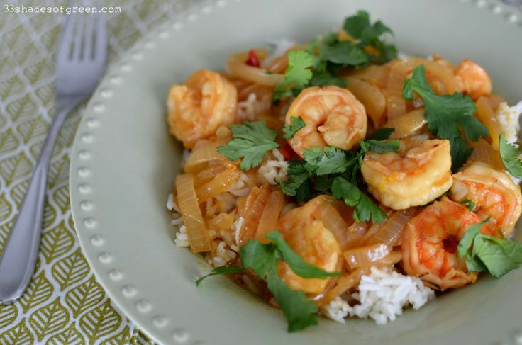 Rita's Tamarind & Coconut Shrimp Curry from Mighty Spice cookbook