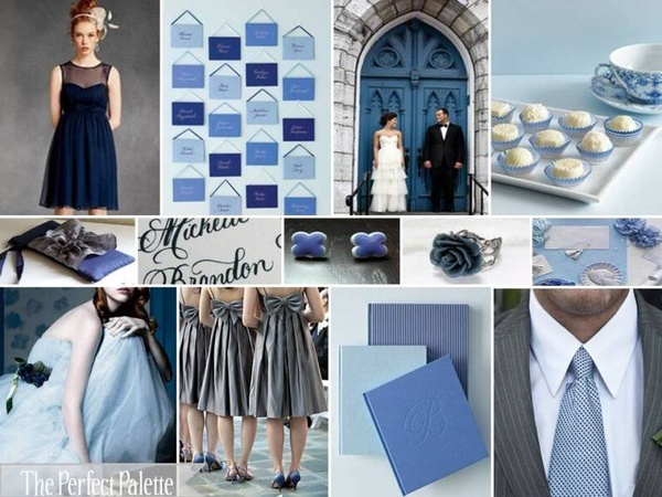 Something Blue Our Wedding Color Palette Navy Blue, Gray ...