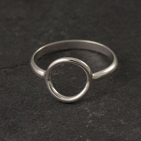Sterling Silver Ring- Simple Silver Ring- Silver Circle ...