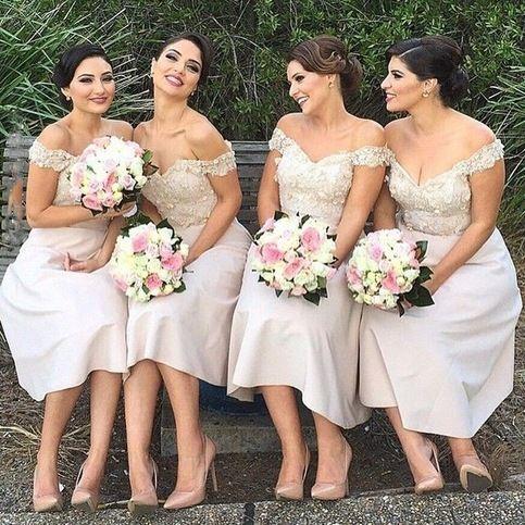 Charming bridesmaid dress, short bridesmaid dress, bridesmaid dress with applique, pretty bridesmaid dress, impressive junior bridesmaid dress