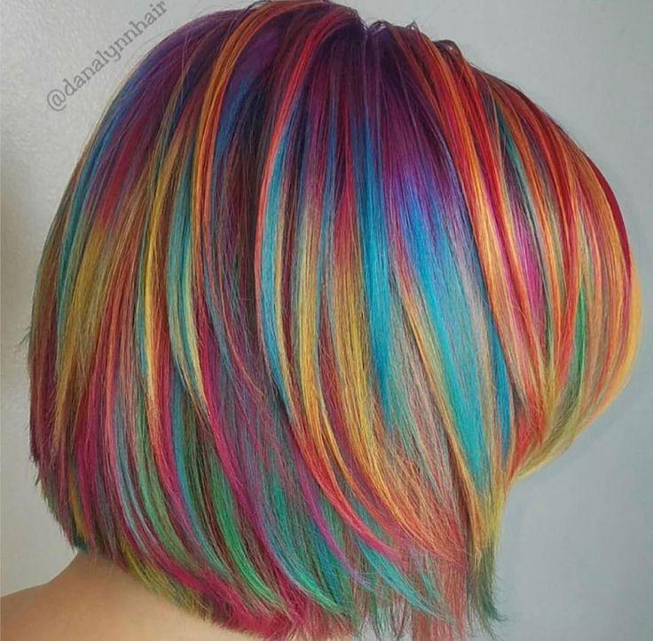 Best 25+ Multi coloured hair ideas on Pinterest | Blue ...
