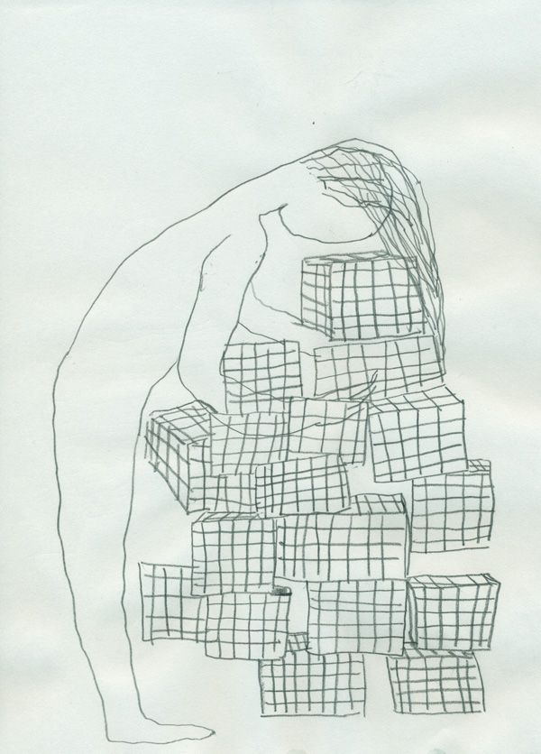 Untitled - Pencil on paper - 25 x 18 cm