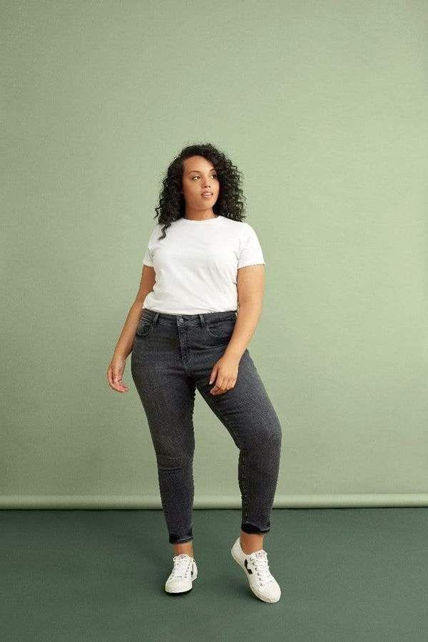 JFK Warp + Weft Skinny Pants in Gray Size 14