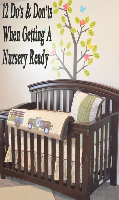 1. Paint before you put baby in.  Finish all painting and wallpapering a few weeks before baby is expected, and leave windows open for aeration until the actual arrival 2. Do what you can to keep t...