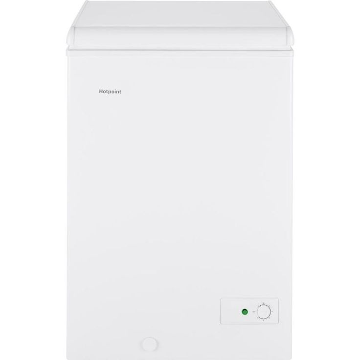 "Hotpoint <a href=""http://3.6-cu/"">3.6-Cu</a> Ft Manual Defrost Chest Freezer (White) Hcm4smww"