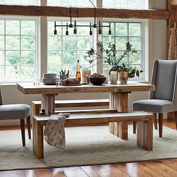 """Emmerson Reclaimed Wood Dining Table, 72""""w x 39""""d x 31""""h #westelm - $1075...BUT WE website shows 25% off"""