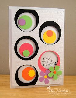Circles! I know this is a card, but I want to make a quilt like this :)
