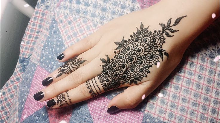 DIY Easy Mehendi Design für Finger Tutorial – Henna Temporary Tattoo! T …,  #Design #DIY #d…