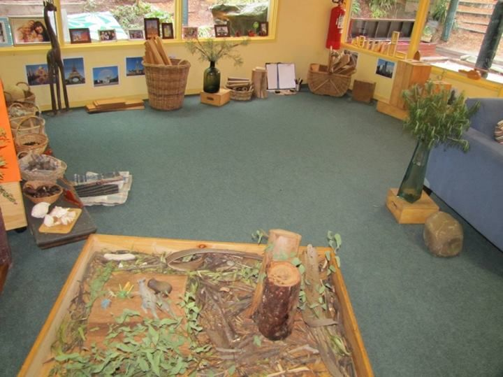 Lots of space to create here - & easily available resources - image from Journey into Play