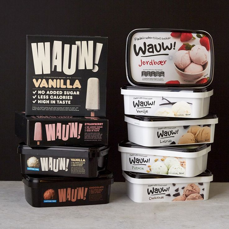 Brand New: New Logo and Packaging for Wauw by Snask