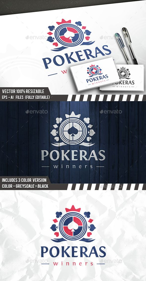 Poker Logo Template — Photoshop PSD #merge #house • Available here → https://graphicriver.net/item/poker-logo-template/14525805?ref=pxcr