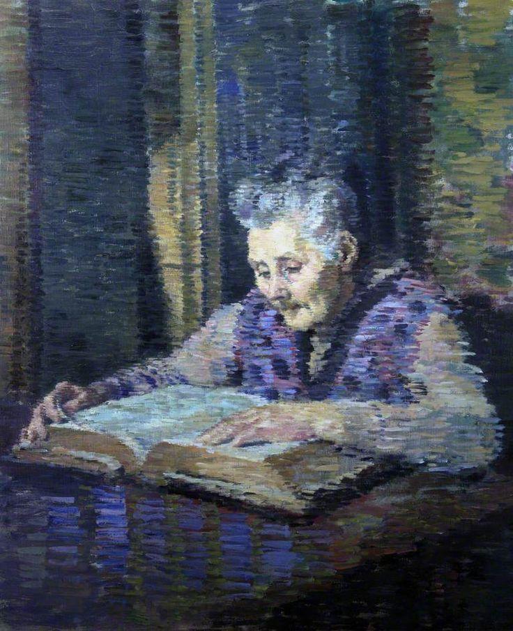 Evan Walters - Artist's Mother Reading the Bible