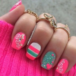 Pink isn't my favorite color...but I love these combos of designs and color!