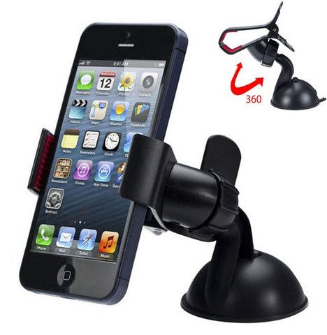 Car Mount Cell Phone Holder For Car/ Dashboard and Windshield Phone Holder for iPhone, Samsung, LG, Nexus, HTC, Motorola, Sony and Other Smartphones