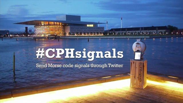 #CPHsignals de Kostantinos Frantzis, Ana Catharina Marques and Markus Schmeiduch, combinan la vieja tecnología marítima con Twitter para comunicar dos puertos entre sí.