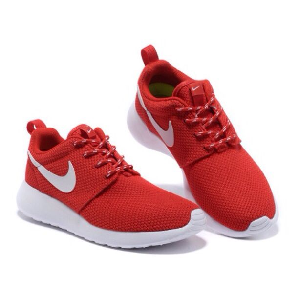 Womens Nike Roshe Run Mid Red White Shoes