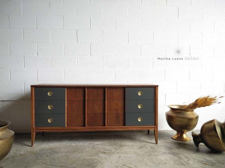 9 Drawer Mid Century Dresser By Martha Leone Design