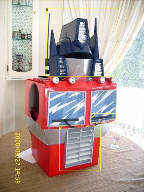 7 Chest head & Torso complete.jpg  Step by step instructions for DIY Optimus Prime costume.