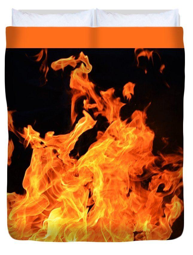 """Camp Fire Queen (88"""" x 88"""") Duvet Cover"""