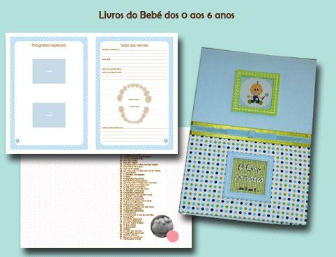 Paginação do interior do livro do Bebé