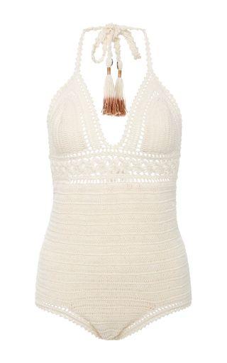 Intricate Flower Crocheted Swimsuit | Moda Operandi