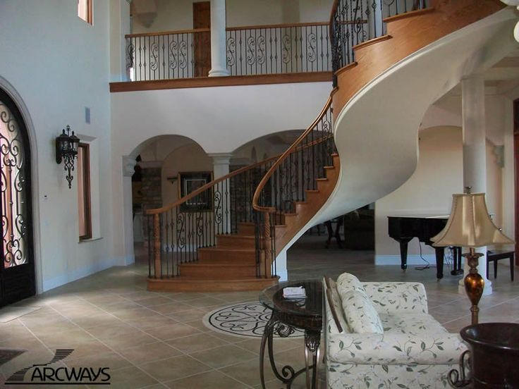 S Shaped Staircase Arcways Beautiful S Shaped Freestanding Stairway In  Southern California