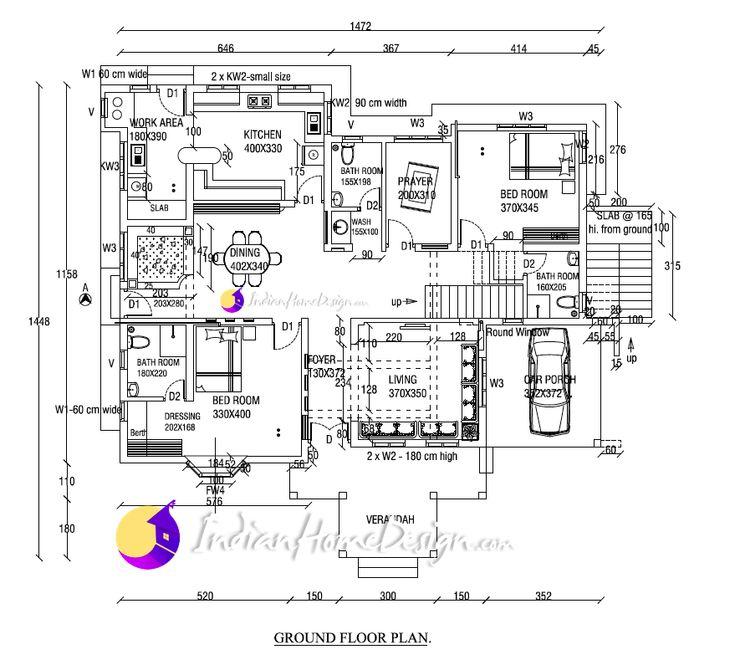 3820  Sq ft Kerala Home design based Western design villa plan
