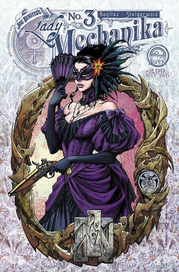 It's not often when I get an urge to cosplay anyone from comics these days nor find myself drawn towards steampunk. This series, however, gives me all kinds of cosplay urges!  Gorgeous art by Joe Benitez.