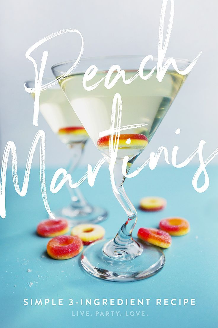 Make Sweet Peach Martinis with 3 Ingredients Calling all peach lovers, this will be your go-to martini recipe. Relax and enjoy! via @livepartylove