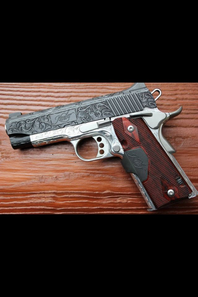 Engraved Kimber 1911 Now that is a Kimber Custom!!!