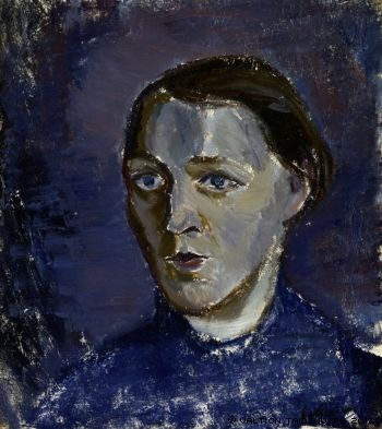 TYKO SALLINEN Portrait of Mrs Kallio (1917)