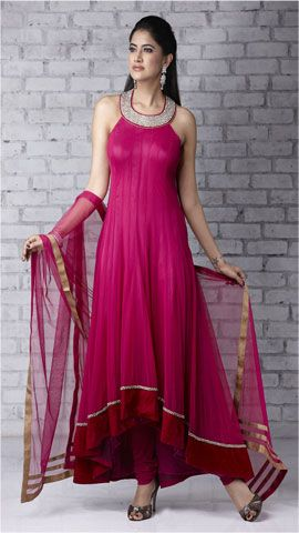 Salwar Kameez - high low hem