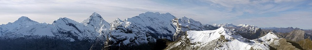 Amazing panorama I took up in the Alps near Murren, Switzerland