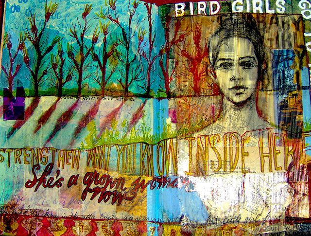 Self Portrait Bird Girls by little jule, via Flickr
